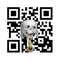 QR with skull and horn