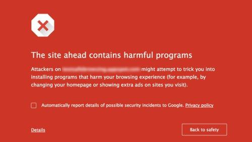 google-warning